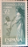 Stamps of the world : Spain :  Intercambio fd2a 0,25 usd 50 cents. 1963