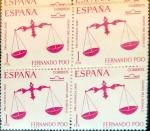 Stamps Spain -  Intercambio 1,00 usd 4 x 1 pta. 1968