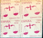 Stamps of the world : Spain :  Intercambio 1,00 usd 4 x 1 pta. 1968
