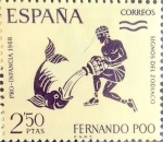 Stamps of the world : Spain :  Intercambio 0,40 usd 2,50 ptas. 1968
