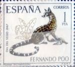 Stamps Spain -  Intercambio 0,30 usd 1 pta. 1967