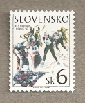 Stamps Europe - Slovakia -  Ski