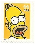 Sellos de America - Estados Unidos -  The simpsons - Homer
