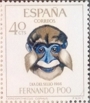 Stamps Spain -  Intercambio 0,30 usd 40 cents. 1966