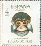 Stamps Spain -  Intercambio 0,45 usd 4 ptas. 1966