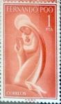 Stamps Spain -  Intercambio 0,25 usd 1 ptas. 1960