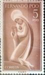 Stamps Spain -  Intercambio 0,25 usd 5 ptas. 1960