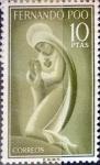 Sellos de Europa - España -  Intercambio 0,45 usd 10 ptas. 1960