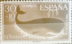 Stamps Spain -  Intercambio 0,30 usd 30 + 10 cents. 1961
