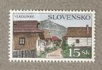 Stamps Europe - Slovakia -  Vlkolinec Patrimonio de la Unesco