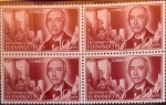 Sellos de Europa - España -  Intercambio 1,00 usd 4 x 10 + 5 cents. 1960