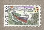 Stamps Europe - Slovakia -  Navegación fluvial