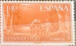 Stamps Spain -  Intercambio cr2f 0,35 usd 1 pta. + 10 cents. 1961