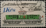 Stamps Czechoslovakia -  Locomotives and Streetcars