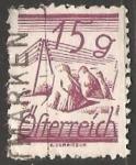 Sellos de Europa - Austria -  Stooks & telegraph wires