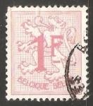 Sellos de Europa - Bélgica -   Number on Heraldic Lion
