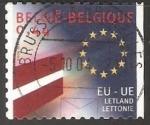 Stamps : Europe : Belgium :  Union Europea - Letonia