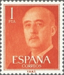 Sellos del Mundo : Europa : España : ESPAÑA 1955 1153 Sello Nuevo General Franco 1pts sin goma Espana Spain Espagne Spagna Spanje Spanien