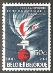 Stamps Belgium -  Centennial of the Socialist International