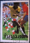 Stamps of the world : Guyana :  1990 World Cup Soccer Championships, Italy