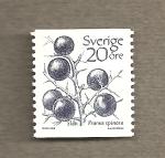 Stamps Europe - Sweden -  Prunus spinosa