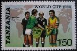 Sellos del Mundo : Africa : Tanzania : 1986 World Cup Soccer Championships, Mexico