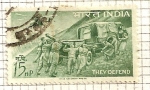 Stamps India -  Homenaje a las fuerzas armadas