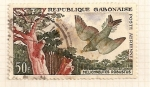 Stamps Africa - Gabon -  Pajaro lira y arbol.