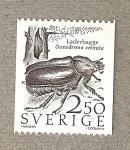 Sellos del Mundo : Europa : Suecia : Escarabajo de la cortea