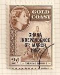 Sellos del Mundo : Africa : Ghana : Sexta marcha para la independencia.