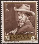 Stamps of the world : Spain :  Joaquin Sorolla Autorretrato 1964 1 pta