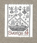 Sellos del Mundo : Europa : Suecia : Bordado