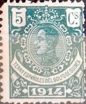 Stamps : Europe : Spain :  5 cents. 1914