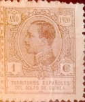 Stamps Spain -  Intercambio fd2a 0,25 usd 1 cent. 1920