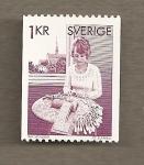Sellos del Mundo : Europa : Suecia : Encaje de bolillos