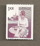 Stamps Europe - Sweden -  Encaje de bolillos