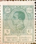 Stamps : Europe : Spain :  Intercambio 0,25 usd 5 cents. 1920