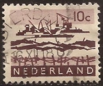 Stamps of the world : Netherlands :  Trabajos en el Delta  1963 10 centimos