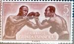 Sellos del Mundo : Europa : España :  Intercambio nfb 0,20 usd 5 cent. 1958