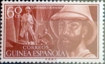 Stamps Spain -  Intercambio jxi 0,50 usd 60 cents. 1955