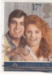 Sellos de Europa - Reino Unido -  principes  Andres y Sarah  Fergusson duques de York