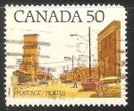 Stamps Canada -  Prairie Town Main Street