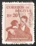 Sellos del Mundo : America : Bolivia : III Congreso Indigenista