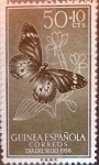 Stamps Spain -  Intercambio 0,40 usd 50 + 10 cents. 1958
