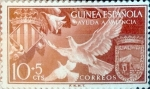 Stamps Spain -  Intercambio jxi 0,20 usd 10 + 5 cents. 1958