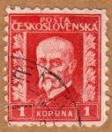 Sellos de Europa - Checoslovaquia -  TOMÁŠ MASARYK-1ER PRESIDENTE