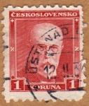 Stamps Czechoslovakia -  TOMÁŠ MASARYK-1ER PRESIDENTE