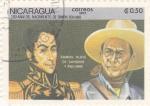 Stamps Nicaragua -  200 aniv. nacimiento de Simón Bolivar
