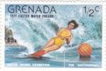 Sellos de America - Granada -  exibición esquí acuatico