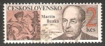 Stamps Czechoslovakia -  Martin Benka - dia del sello